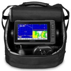Garmin ECHOMAP UHD 73cv Panoptix PS22 Ice Fishing Bundle