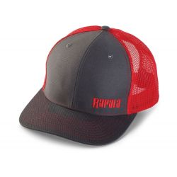Rapala Trucker Cap Mesh - Left Logo - Charcoal Red