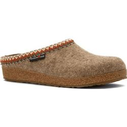 Haflinger Women's Zig Zag Wool Clog - Earth