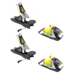 SPX 12 Dual Ski Bindings 120 mm - Concrete/Yellow