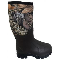 Youth Neoprene Rubber Boots - Burly Camo