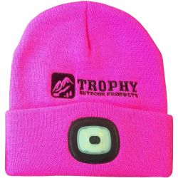 200 Lumen Rechargeable LED Knit Hat - Pink