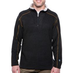 Men's Europa Quarter Zip Fleece Sweater - Charcoal