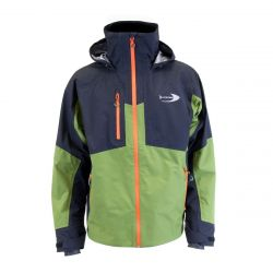 Aspire Rain Jacket Medium - Olive/Black/Orange