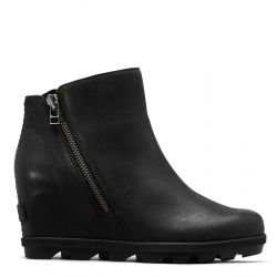 Sorel Women's Joan of Arctic Wedge II Zip Boot - Black