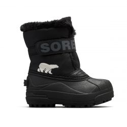 Sorel Children's Snow Commander Boot - Black/Charcoal