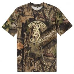 Browning Men's Buckmark Graphic Tee - Mossy Oak Break-Up Country