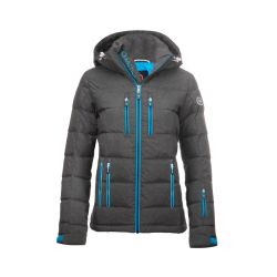 Women's Classic Down Packet - Charcoal Heather / Ocean