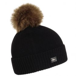 Turtle Fur The Sara-Jane Pom Beanie-Black