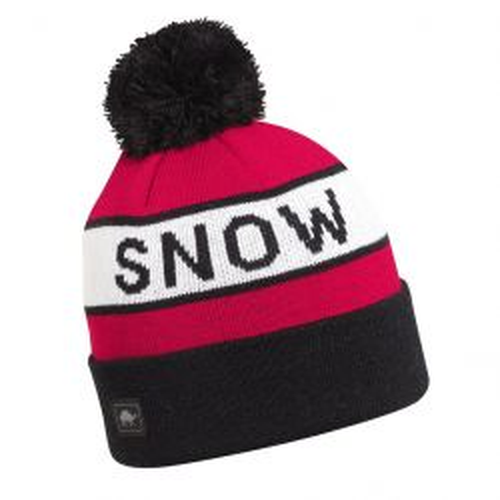 Kids Think Snow Pom Beanie-Black