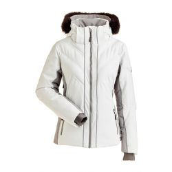 Nils Women's Mika Faux Fur Parka - White