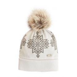 Nils Women's Inga Knit Beanie - White