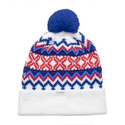 The Winters Nordic Sweater Pom Beanie-White