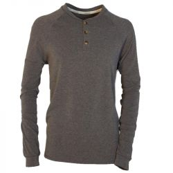 Men's Performance Knit Heathered Henley - Grey