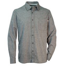 Men's Slub Chambray Button Up Work Shirt - Black