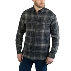 Men's Escape Long Sleeve Flannel Shirt - Onyx Plaid