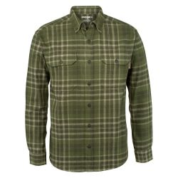Men's Glacier Heavyweight Long Sleeve Flannel Shirt - Olive Plaid