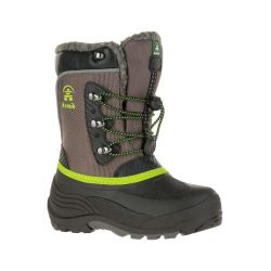 Kid's Luke Winter Boot - Charcoal / Lime