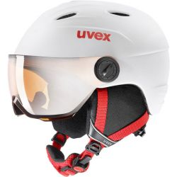 Uvex Sports Junior Visor Pro Helmet - Matte White/Red