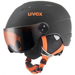 Junior Visor Pro Helmet - Black/Orange