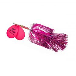 1 1/2 oz Double Blade Musky Flashabou - Hot Pink-Pink