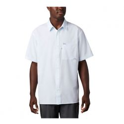 Columbia Men's PFG Zero Rules Short Sleeve Shirt - White