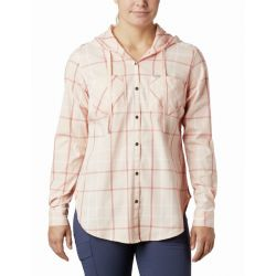 Columbia Women's Anytime Stretch Hooded Long Sleeve - Peach