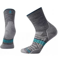 Smartwool Women's PhD Outdoor Light Mid Crew Hiking Socks - Medium Gray