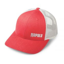 Rapala Snapback Rapala Trucker Cap Mesh - Left Logo - Red Grey