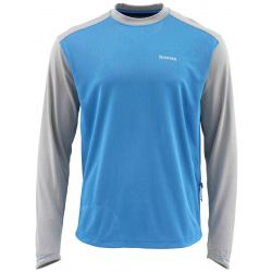 Simms Men's SolarFlex Plus Long Sleeve Crew Shirt - Pacific
