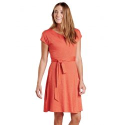 Women's Cue Wrap Ss Dress - Chili