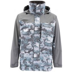 Men's Challenger Fishing Jacket - Hex Flo Camo Grey Blue