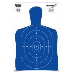 Birchwood Casey Eze-Scorer Silhouette Target 12X18 - Blue