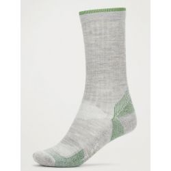 Men's Bugs Away Solstice Canyon Crew Sock - Sleet Heather/Alpine Green