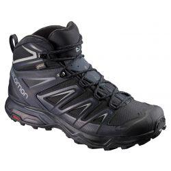 Salomon Men's X Ultra 3 Mid GORE-TEX Hiking Boot - Black/India Ink/Monument
