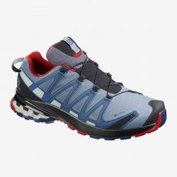 Men's XA Pro 3D V8 GTX Trail Runner - Flint/Sea/Red Dahlia