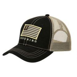 Patriot Snap Closure Cap - Black/Tan