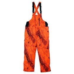 Gamehide Men's Broadside Bib - Naked North Blaze Orange Camo