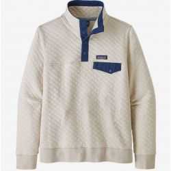 Patagonia Women's Organic Cotton Quilt Snap-T Pullover - Pelican/Stone Blue