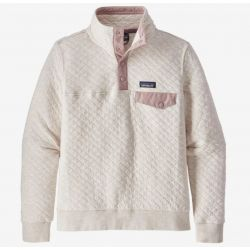 Patagonia Women's Organic Cotton Quilt Snap-T Pullover - Dyno White/Hazy Purple