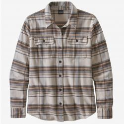 Patagonia Women's Long Sleeve Fjord Flannel Shirt - Cabin Time/Birch White