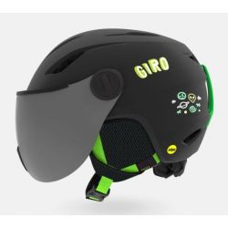Buzz Mips Shield Jr Helmet - Matte Black/Party Blocks SM