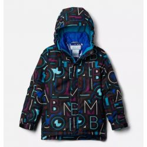 Columbia Girls' Whirlibird II Jacket - Fjord Blue Typo Multi (B) Print/Fjord B