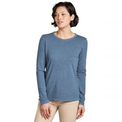 Toad + Co Women's Primo Long Sleeve Crew - High Tide Vintage Wash