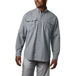 Columbia Men's Bahama Ii Ls Shirt - Cool Grey