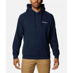 Columbia Viewmont Sleeve Graphic Hoodie - Navy/White