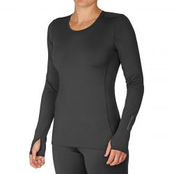 Hot Chillys Women's Micro-Elite Chamois Crewneck Top - Black