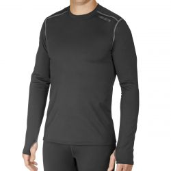Hot Chillys Men's Micro-Elite Chamois Crewneck - Black
