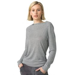 Prana Women's Analia Cozy Up Top - Heather Grey