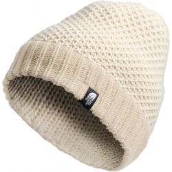 North Face Women's Purrl Stitch Beanie - Bleached Sand/Vintage White